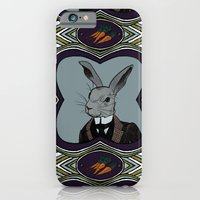 iPhone & iPod Case featuring Mr. Rabbit by ravynka