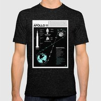 Apollo 11 Mission Diagram Mens Fitted Tee Tri-Black SMALL