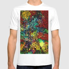 The Van Gogh Tree Mens Fitted Tee SMALL White