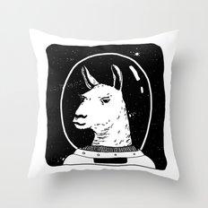 Space llama Throw Pillow
