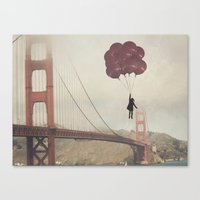 Floating Over The Golden… Canvas Print
