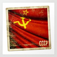 Sticker Of Soviet Union … Art Print