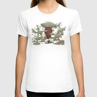 Cloud Watching Womens Fitted Tee White SMALL
