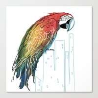 Polly In The City Canvas Print