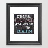 Drink Champagne Framed Art Print