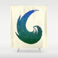 - summer wave - Shower Curtain