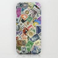 Vintage Postage Stamp Collection - 01 iPhone 6 Slim Case