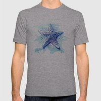 Starfish Waters I Mens Fitted Tee Athletic Grey SMALL