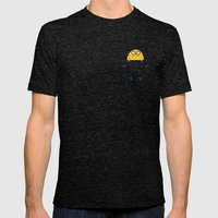 Pocket Jake Mens Fitted Tee Tri-Black SMALL