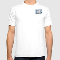 White Phalaenopsis SMALL White Mens Fitted Tee