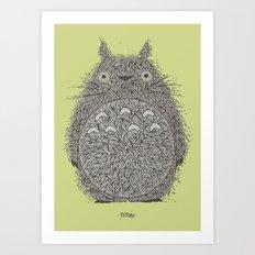 Avocado Totoro Art Print