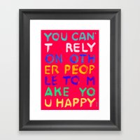 RELY / ABSOLUTELY HAPPY VERSION Framed Art Print