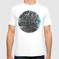 SkyShadows Mens Fitted Tee White SMALL
