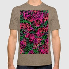 Mehndi Ethnic Style G355 Mens Fitted Tee Tri-Coffee SMALL