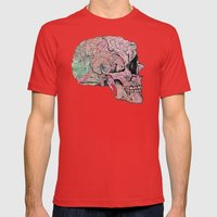 life in cycles Mens Fitted Tee Red SMALL