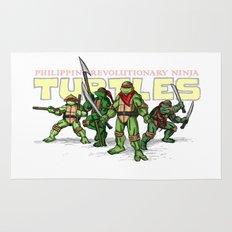 Philippine Revolutionary Ninja Turtles Rug