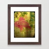 Flower Collage Framed Art Print