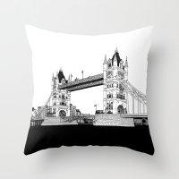Tower Bridge Throw Pillow