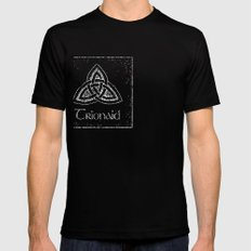 trionaid Mens Fitted Tee Black SMALL
