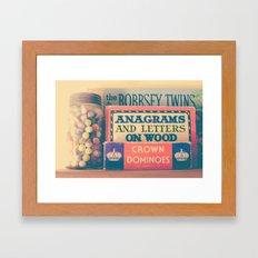 Vintage Toys Framed Art Print