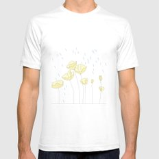SPRING RAIN Mens Fitted Tee White SMALL