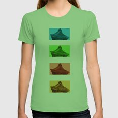 a few reflections on an elegant curve Womens Fitted Tee Grass SMALL
