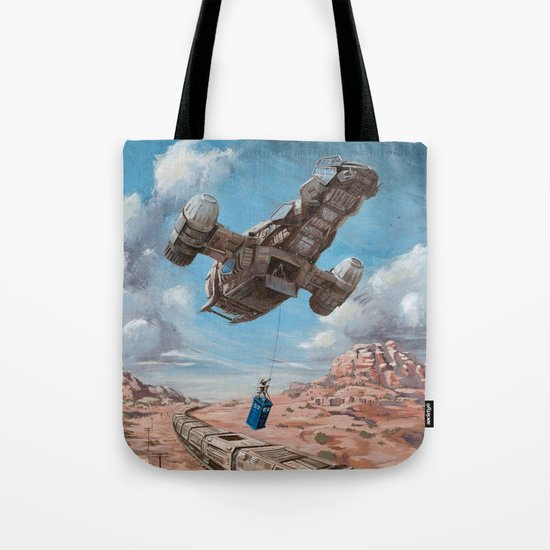 The Time Job - Firefly + Doctor Who  Tote Bag