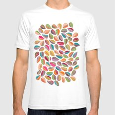 Leaf Colorful Mens Fitted Tee White SMALL