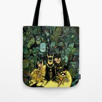 Tote Bag featuring Lil' Bats by Sheep-n-Wolves Clothing