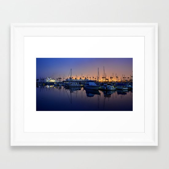 Purple Dawn Marina Framed Art Print