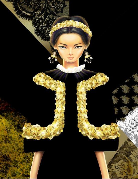 Dolce & Gabbana FW12 Canvas Print