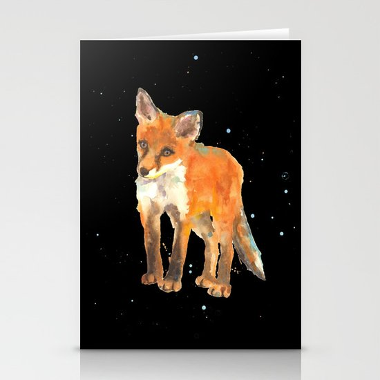 Fox Kit - First Snow Stationery Card