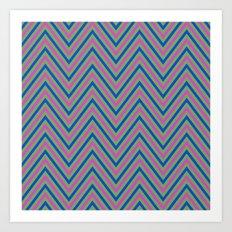 Retro herringbone pattern Art Print