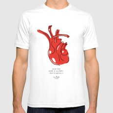 Frida Heart Mens Fitted Tee White SMALL