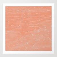 Coral Stone Art Print