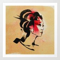 Spring Geisha Art Print