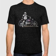 Looking For The Drones, … Mens Fitted Tee Tri-Black SMALL