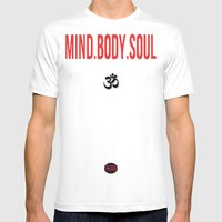 Mind.Body.Soul Mens Fitted Tee White SMALL