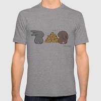 Mine Mens Fitted Tee Athletic Grey SMALL