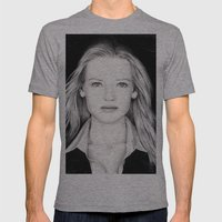 ANNA TORV - OLIVIA DUNHAM Mens Fitted Tee Athletic Grey SMALL