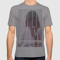 Wander (Keep Calm) Mens Fitted Tee Athletic Grey SMALL
