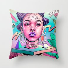 FKA (video girl) Throw Pillow