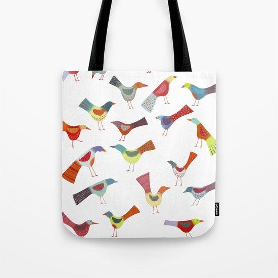 Birds doing bird things Tote Bag