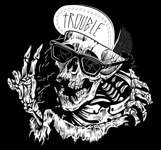 TROUBLE RIPPER / TROUBLE FLY Art Print
