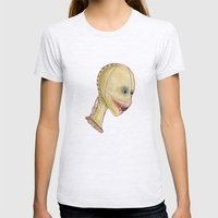 Beauty Mask Womens Fitted Tee Ash Grey SMALL