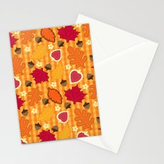 Autumn Print Stationery Cards