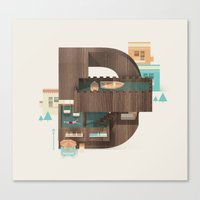 Resort Type - Letter D Canvas Print