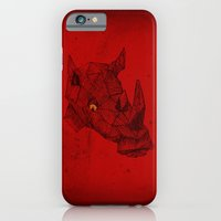 iPhone & iPod Case featuring Red Rhino by TheCore