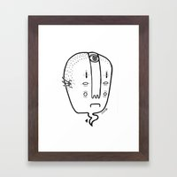 old head Framed Art Print