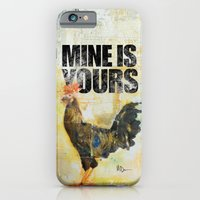 iPhone & iPod Case featuring skinny rooster by Mine is Yours